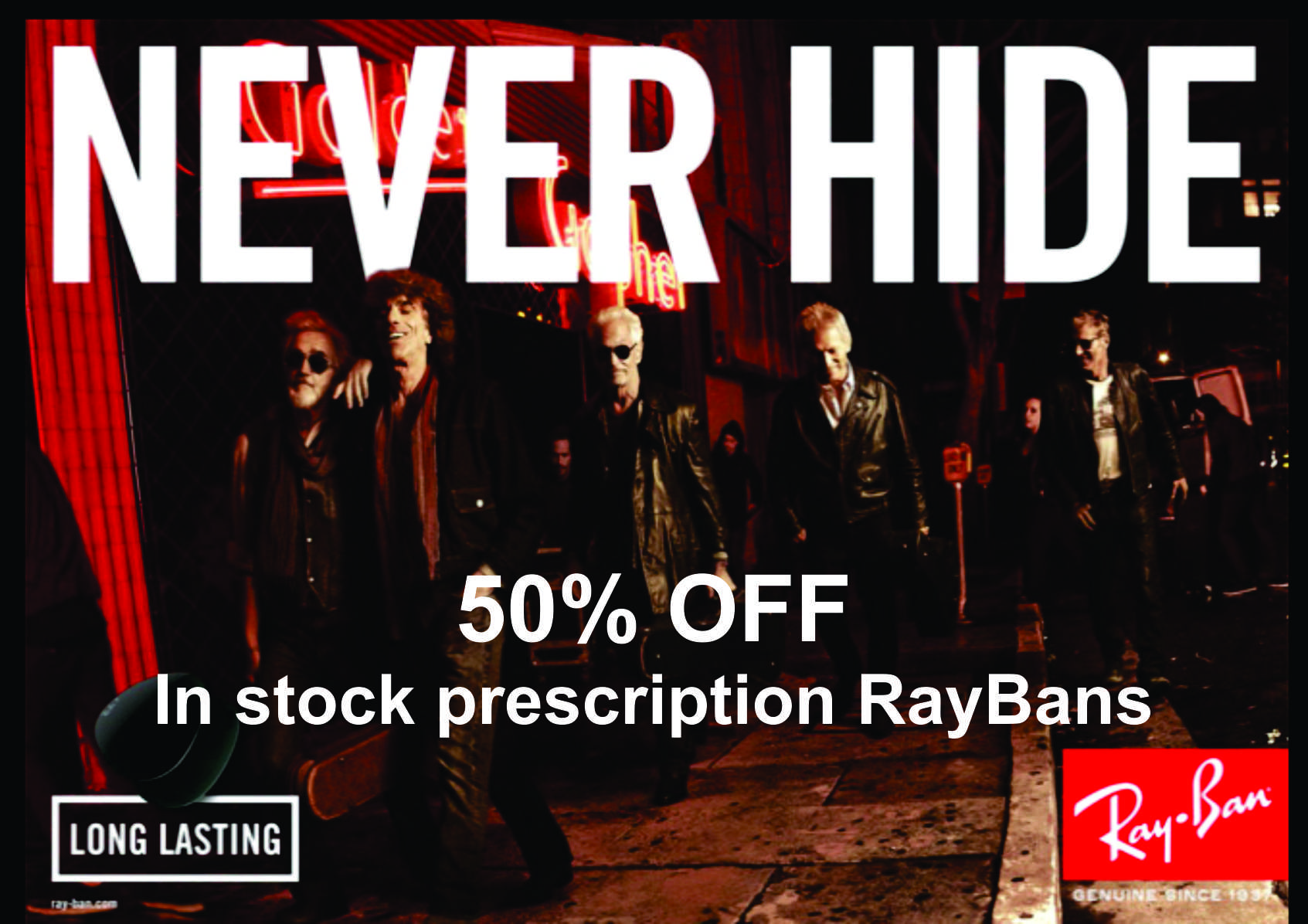 Prescription RayBans 50% OFF